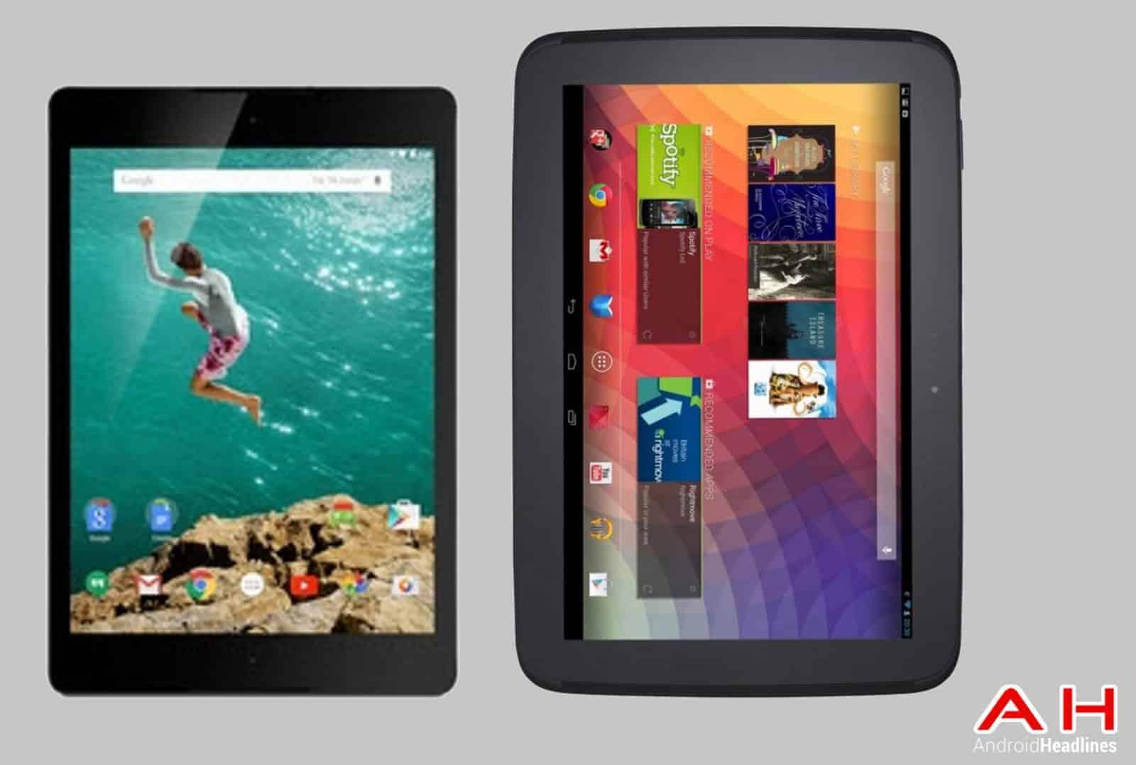 Nexus 9 vs Nexus 10 cam AH