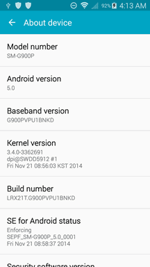 Samsung Galaxy S5 Sprint Lolipop Unofficial