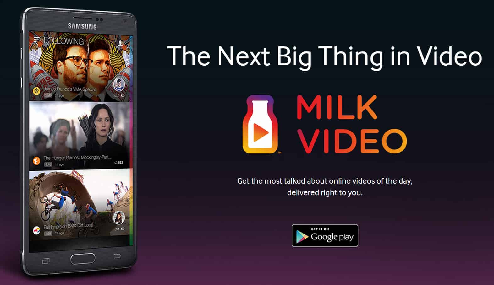 Samsung Milk Video Main Yes