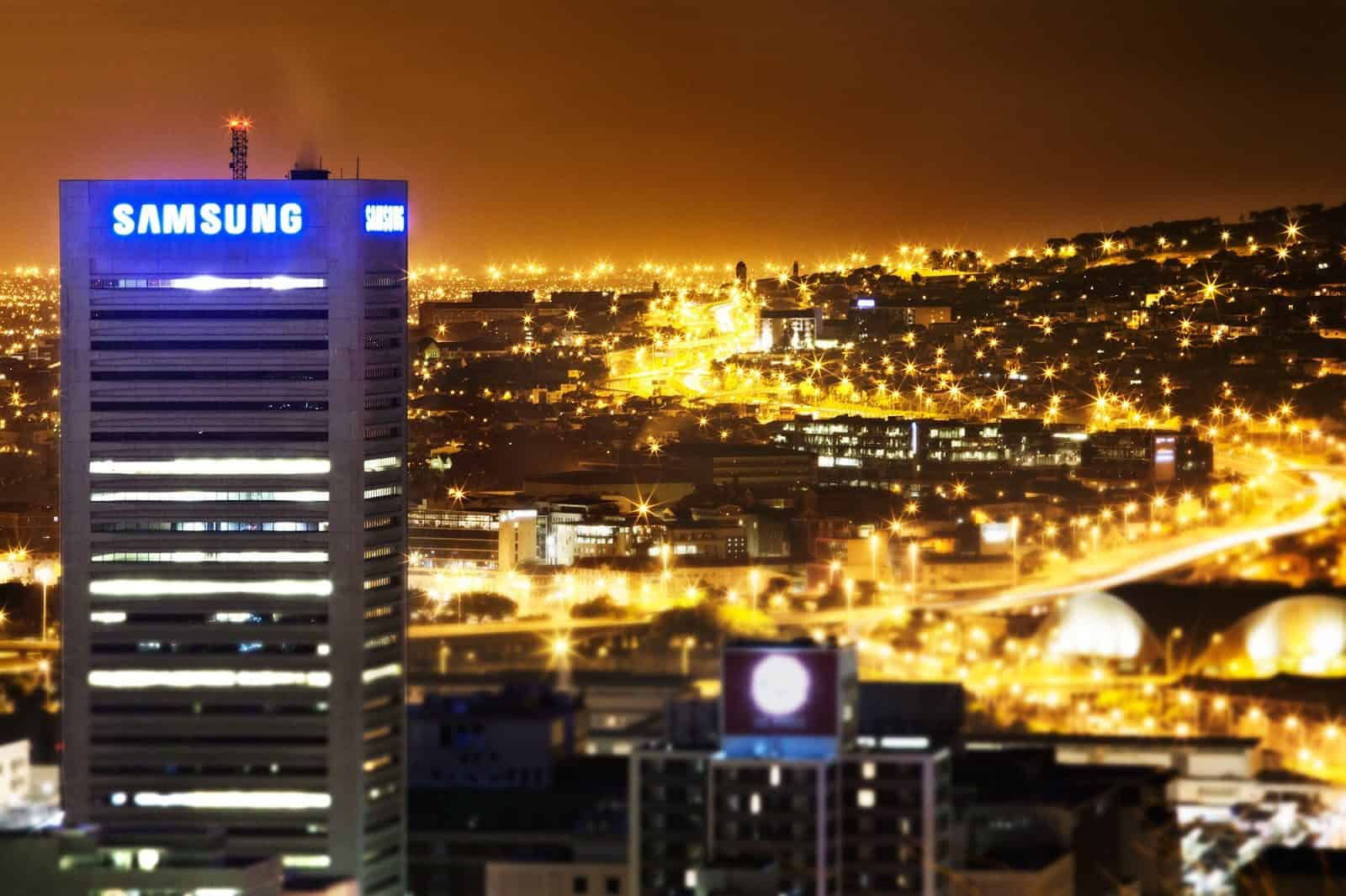Samsung building night