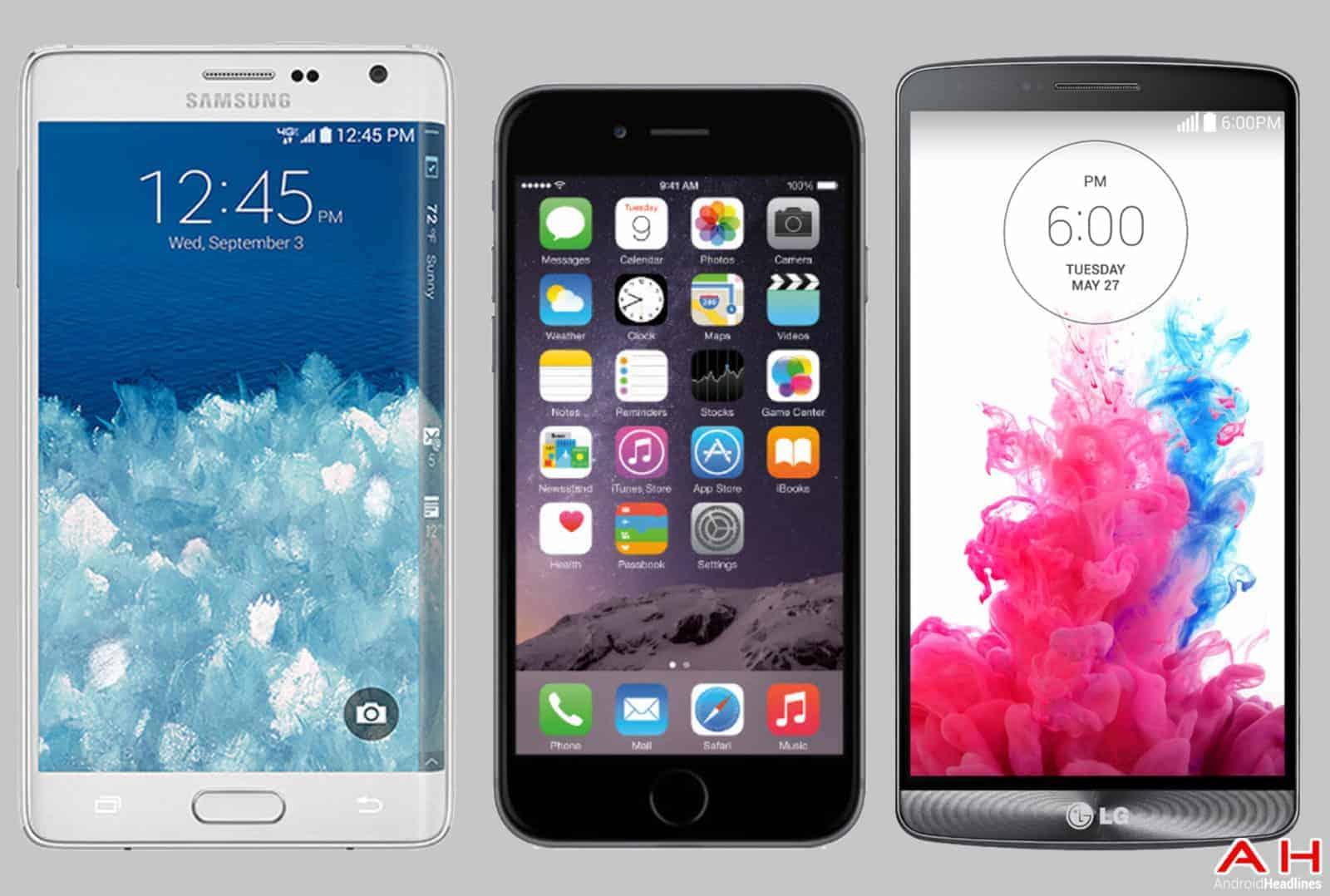 SamsungAppleLG Top Phones cam AH
