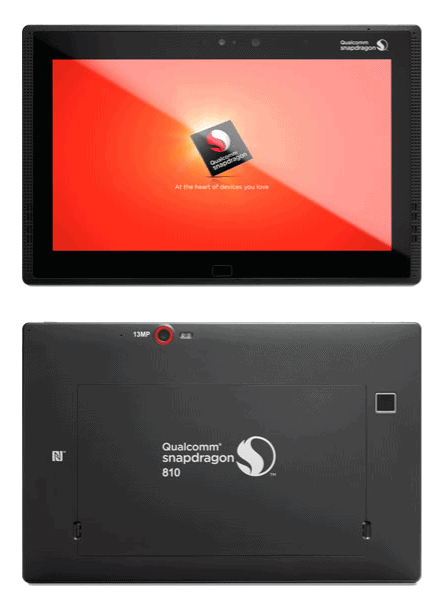 Qualcomm Snapdragon 810 reference tablet