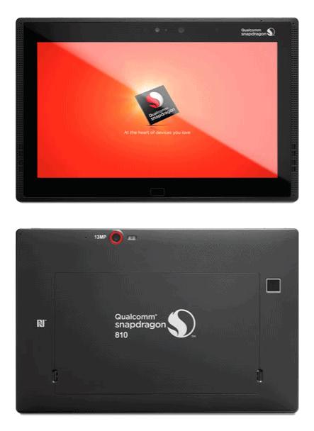 Qualcomm Snapdragon 810 reference tablet