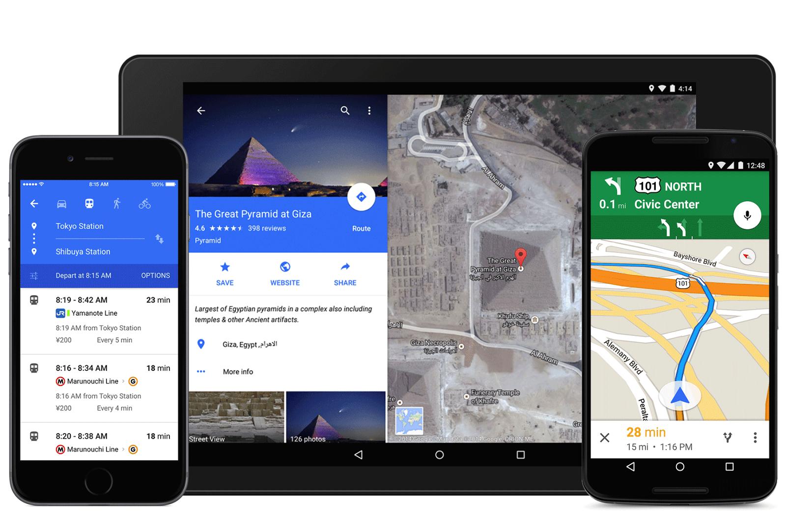 The new Google Maps app