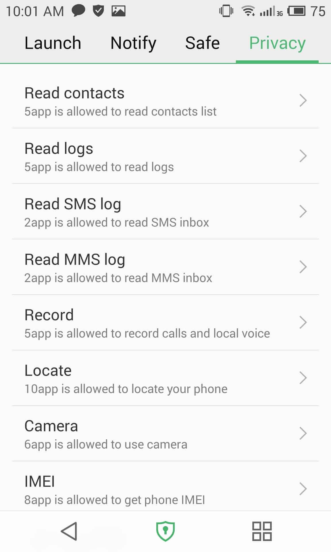 meizu mx4 security privacy 4