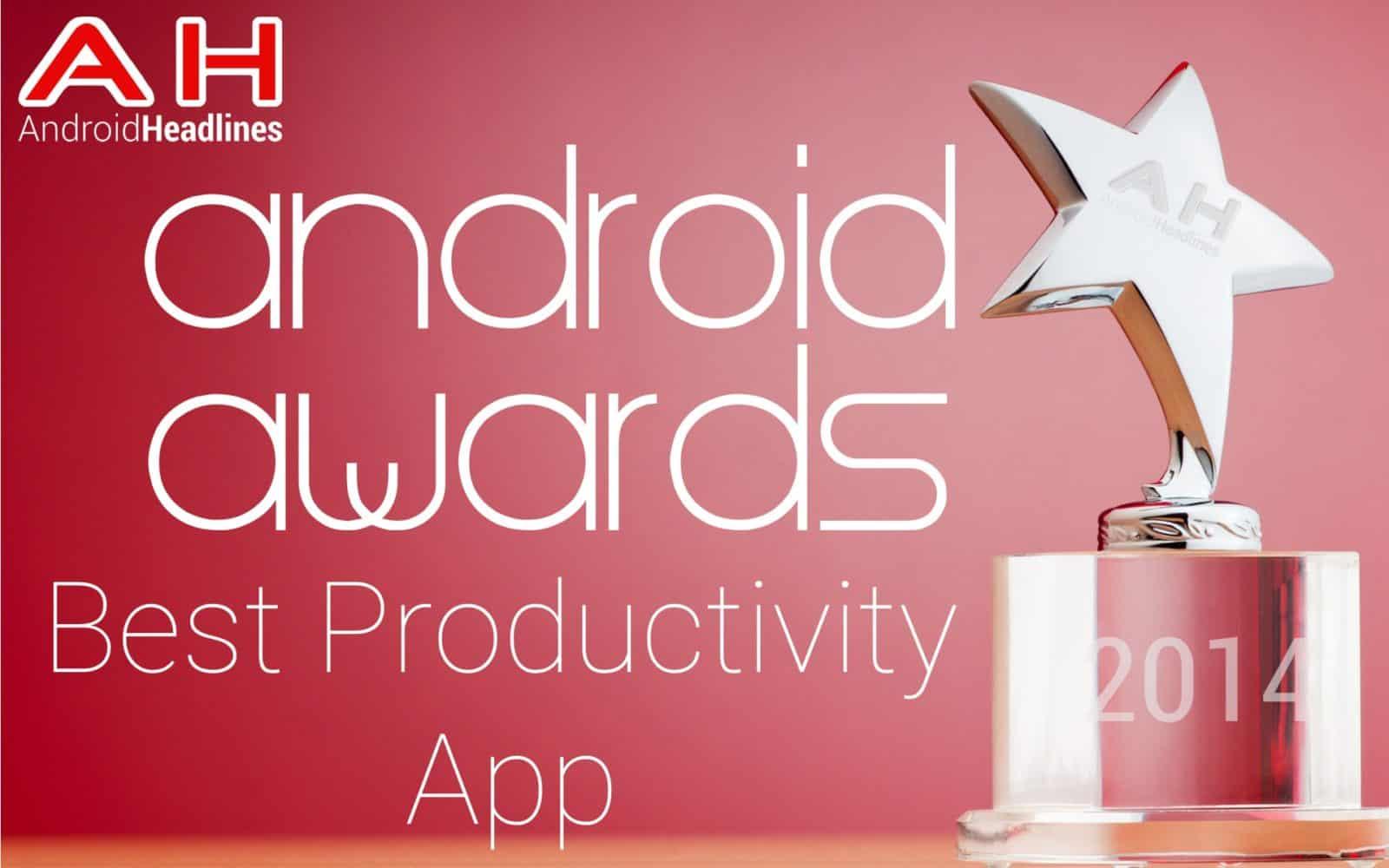 AH Awards 2015 _ Best Android Productivity App