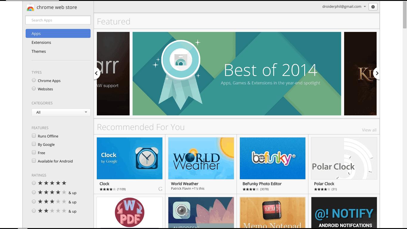 Chrome Top 10 2014