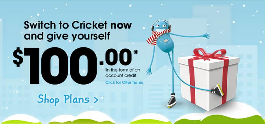 Cricket $100 to Switch