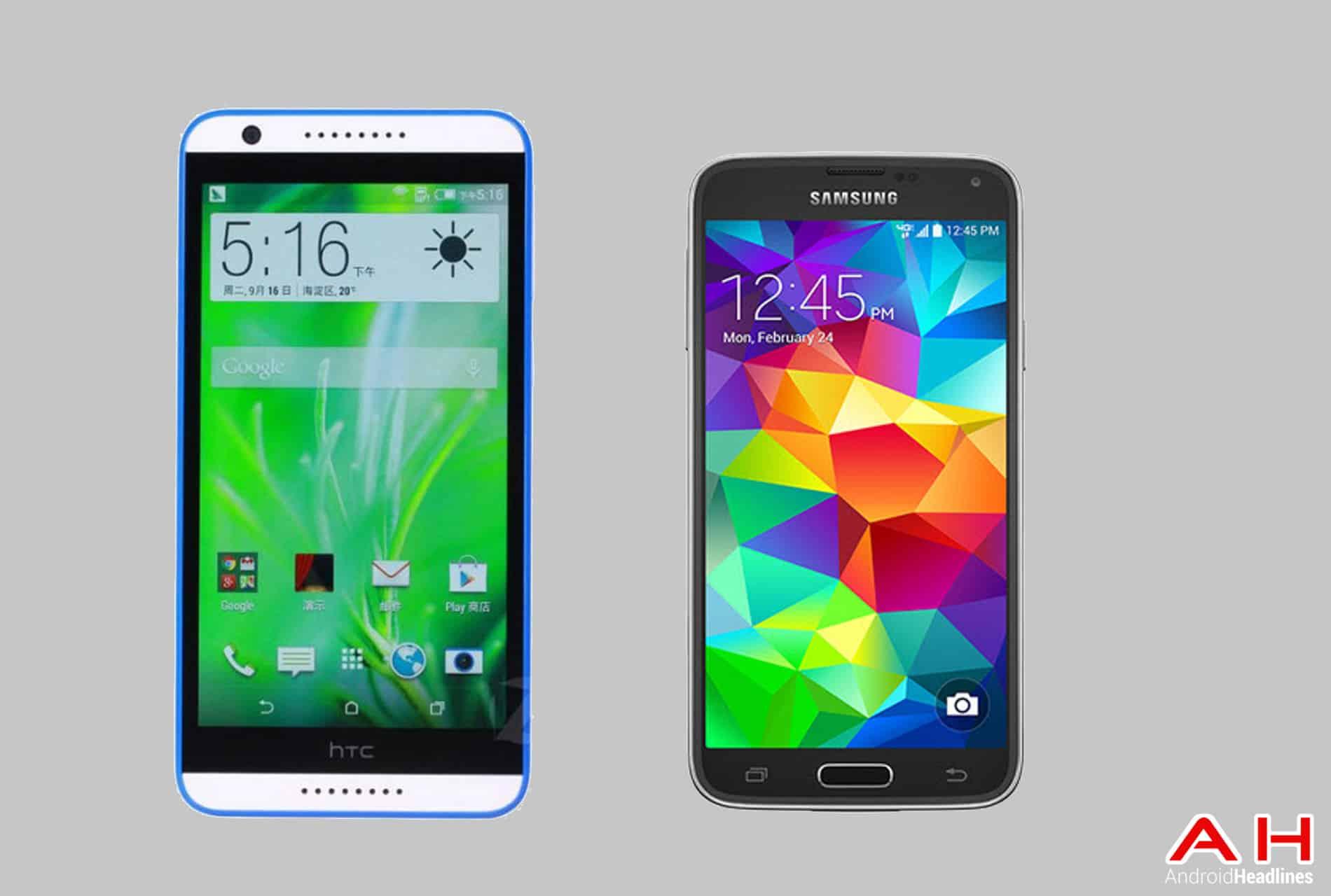 Desire 820 vs Galaxy S5 cam AH