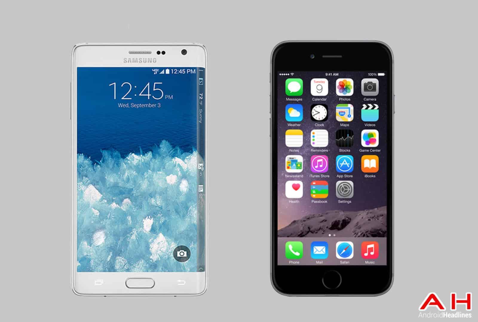 Galaxy Note Edge vs iPhone 6 Plus cam AH
