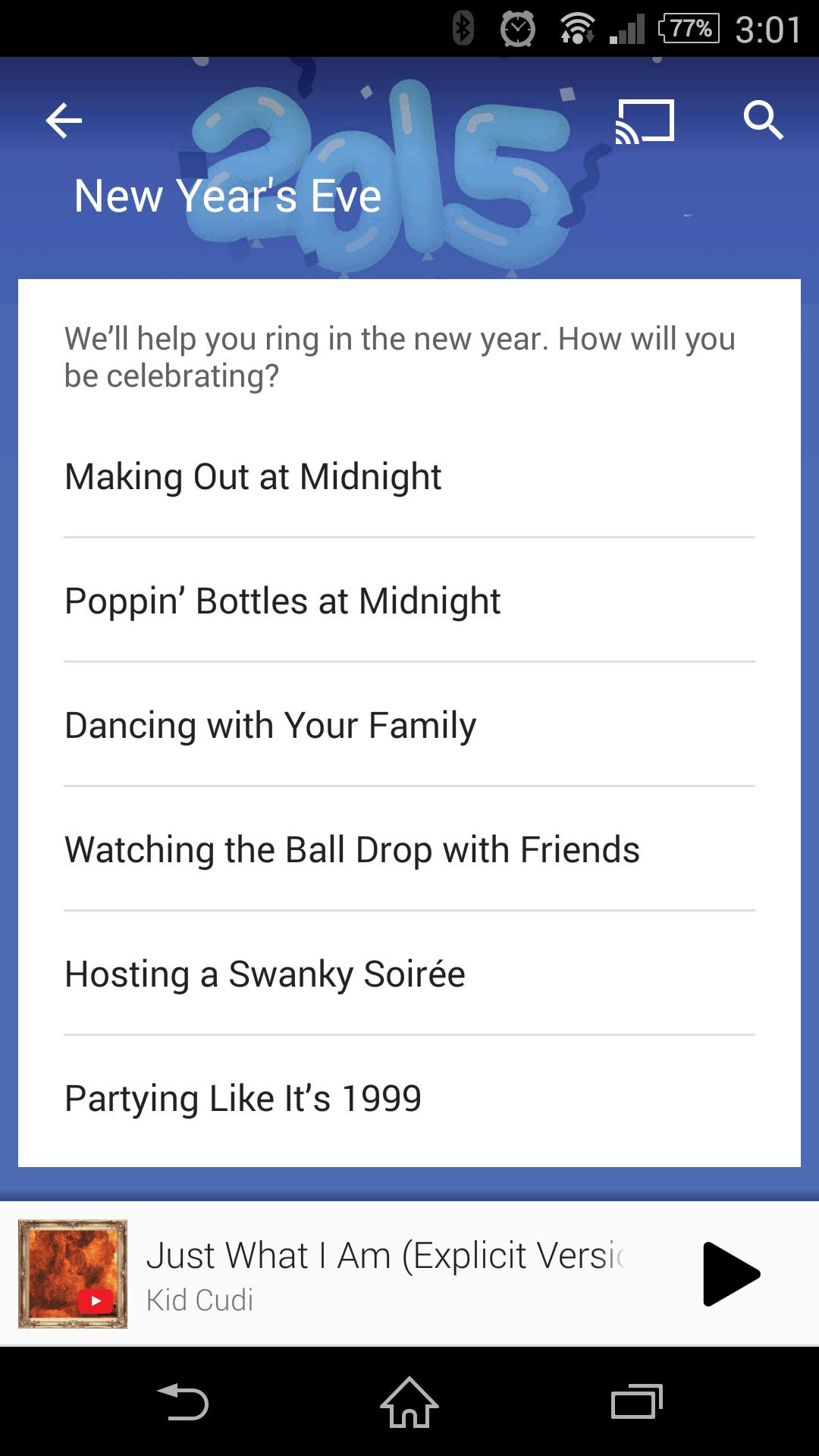 Google Play Music New Years