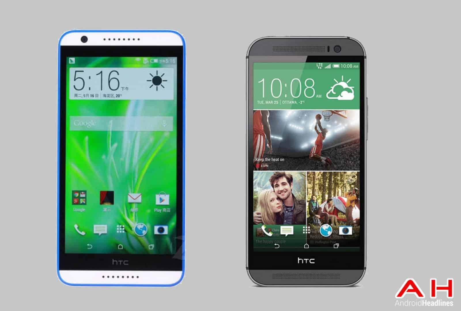 HTC Desire 820 vs HTC One M8 cam AH
