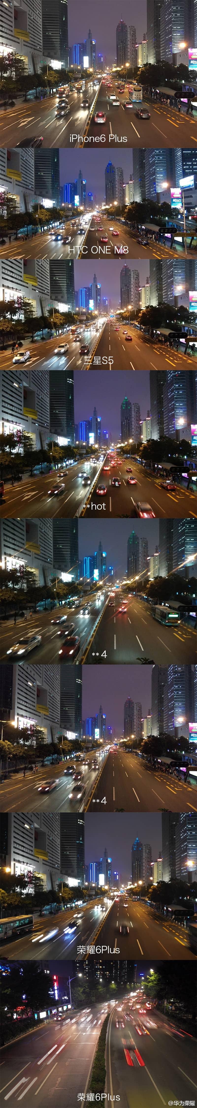Huawei Glory 6 Plus camera comparison leak