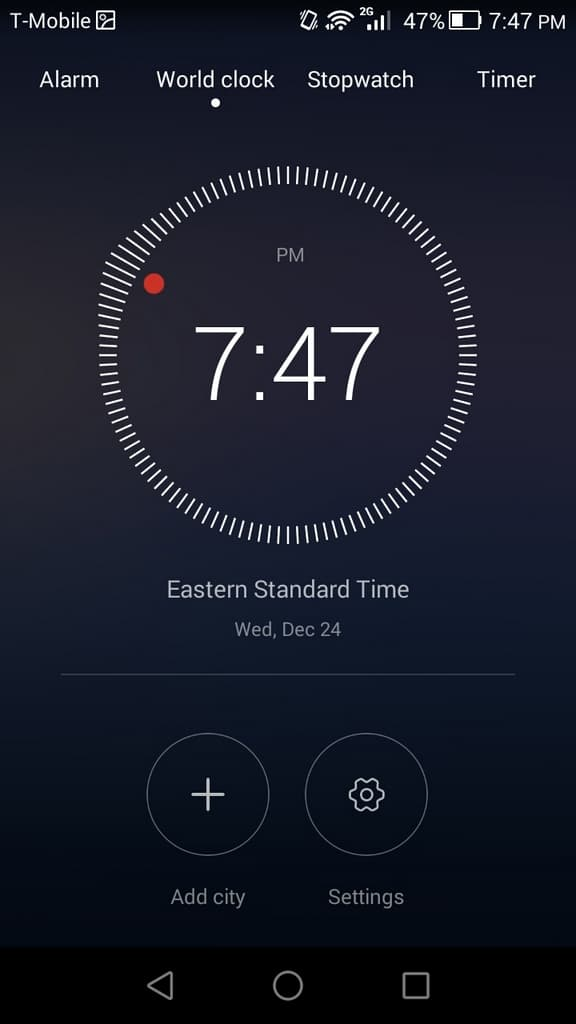 Huawei Honor 6 UI clock