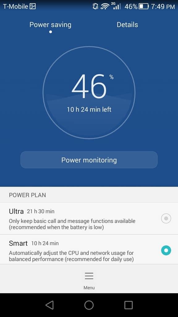 Huawei Honor 6 UI power