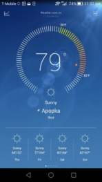 Huawei Honor 6 UI weather