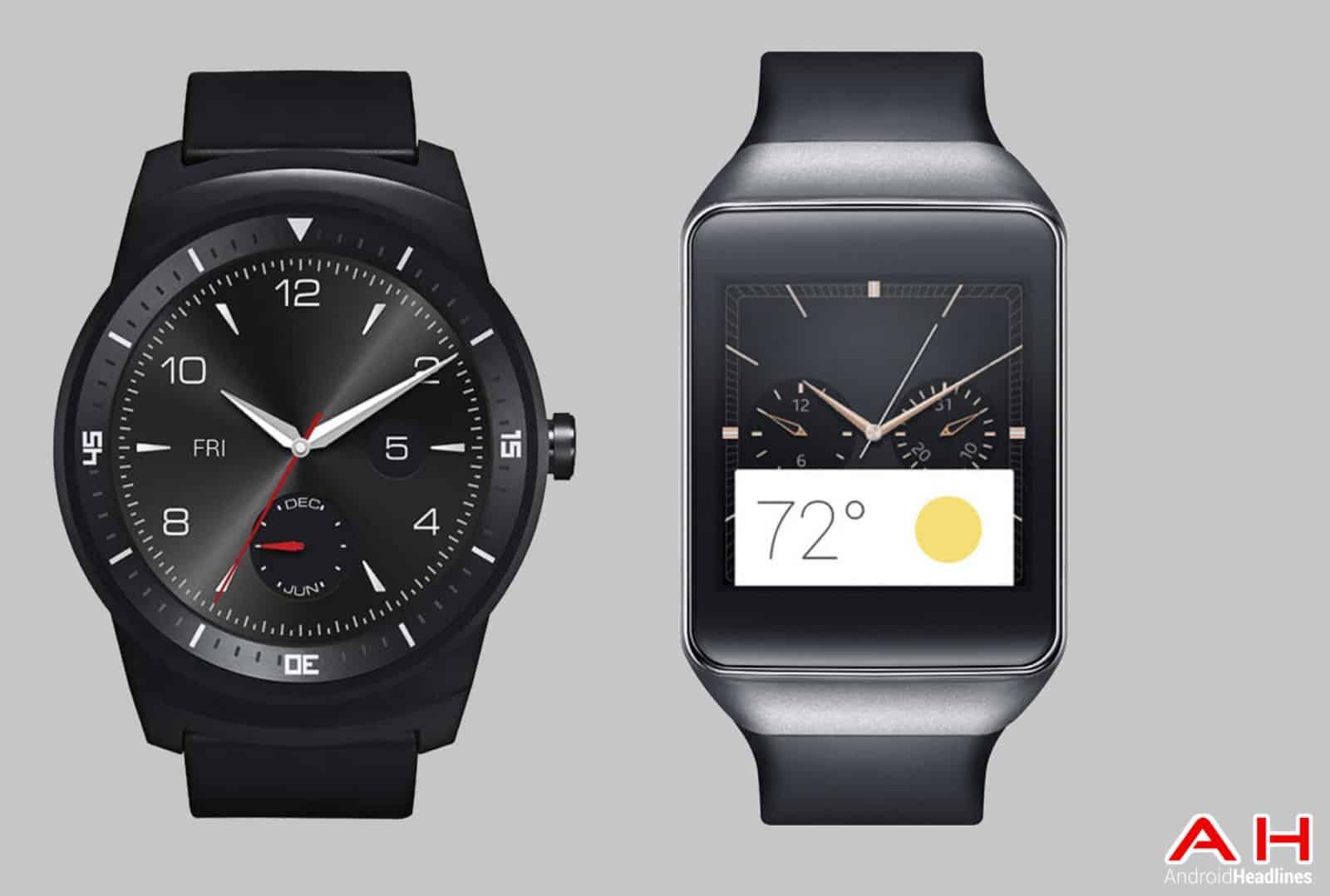 LG G Watch R vs Gear Live cam AH