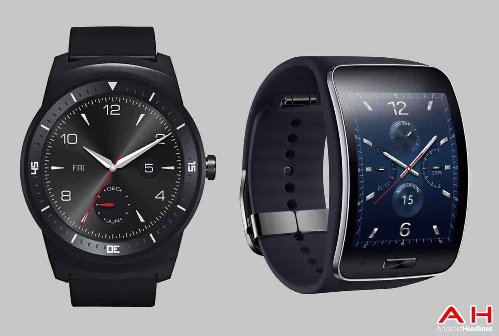 LG G Watch R vs Gear S cam AH