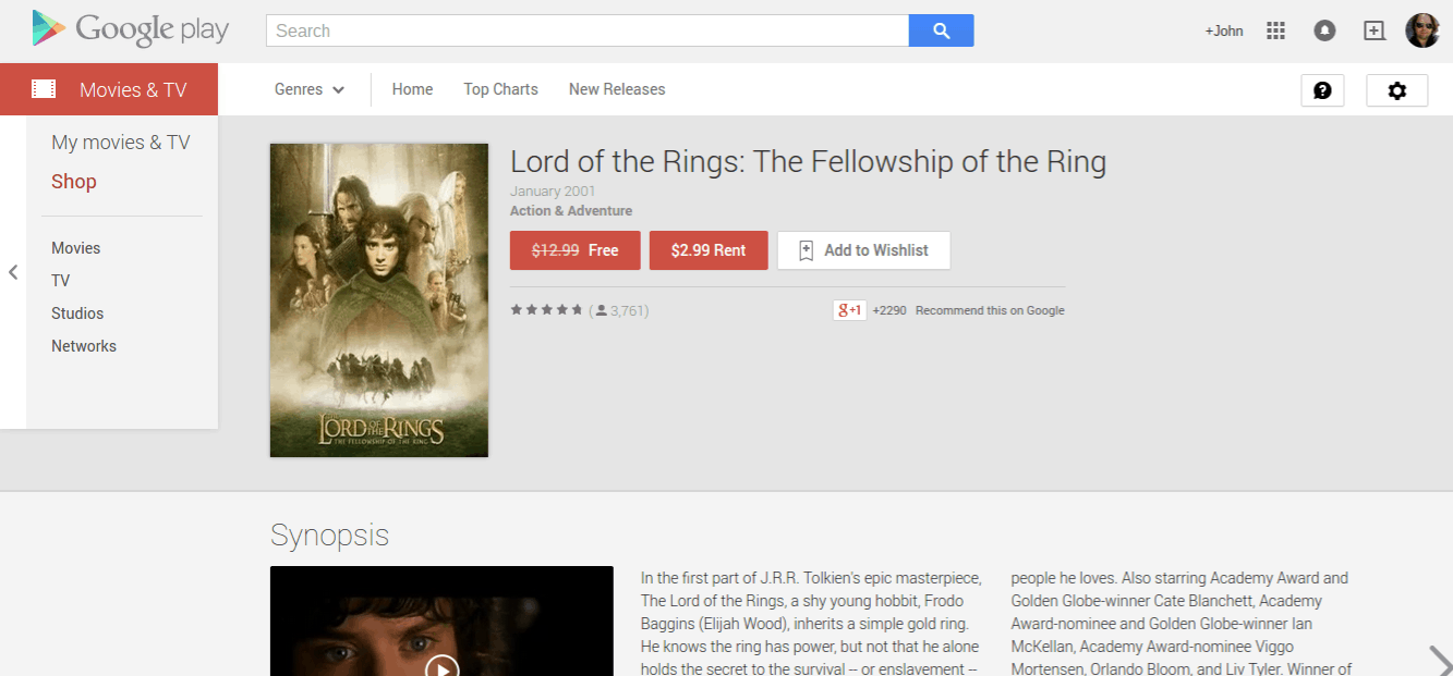 LOTR_Play Store