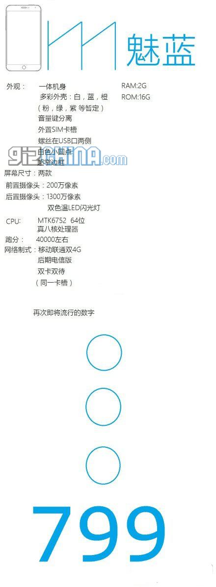 Meizu Blue Charm aka Meilan specs leak