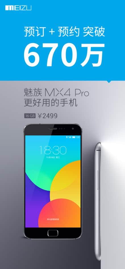 Meizu MX4 Pro pre-orders after 2 weeks