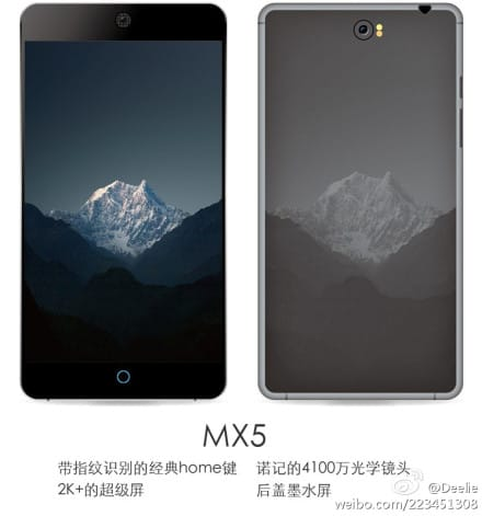 Meizu MX5 leaked render