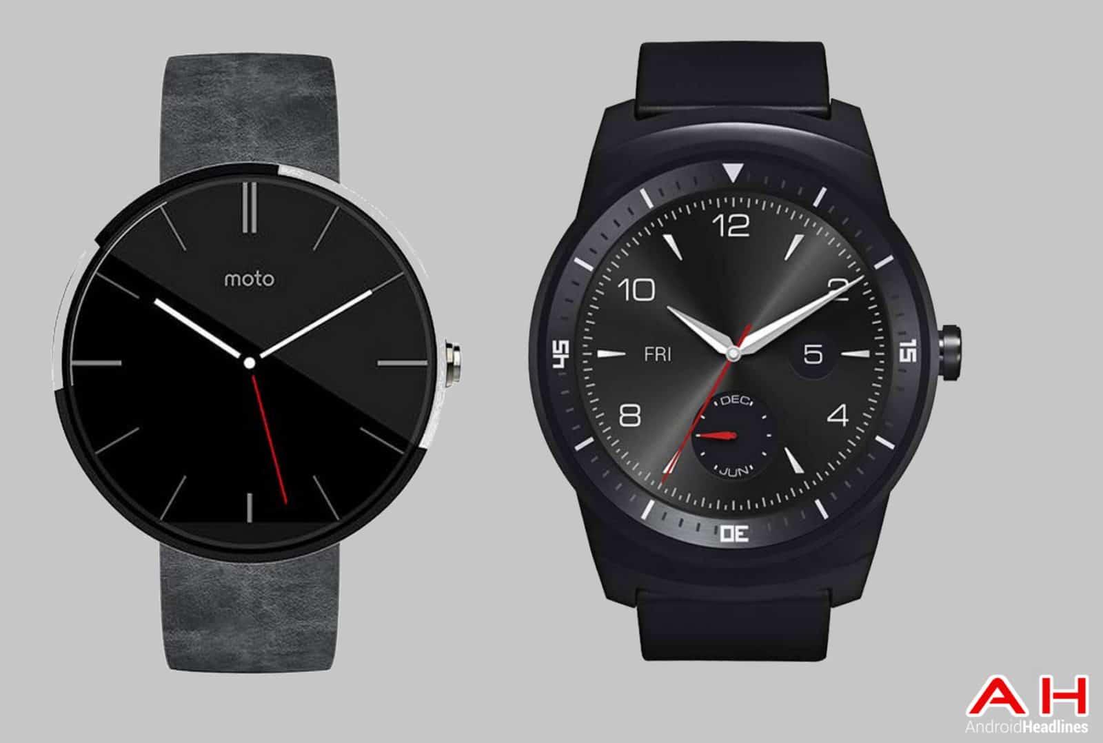 Moto 360 vs LG G Watch R cam AH