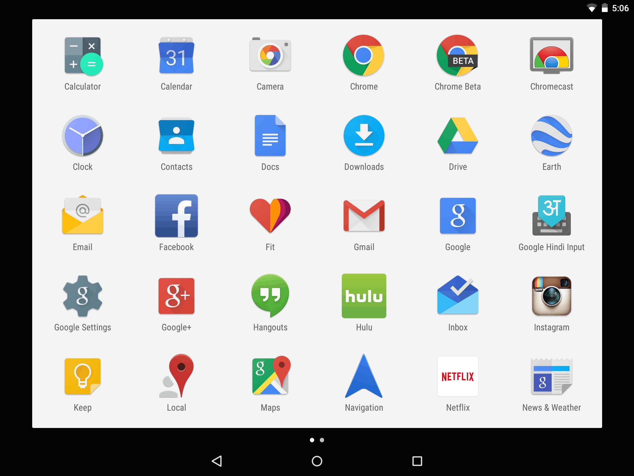 Nexus 9 Screenshot