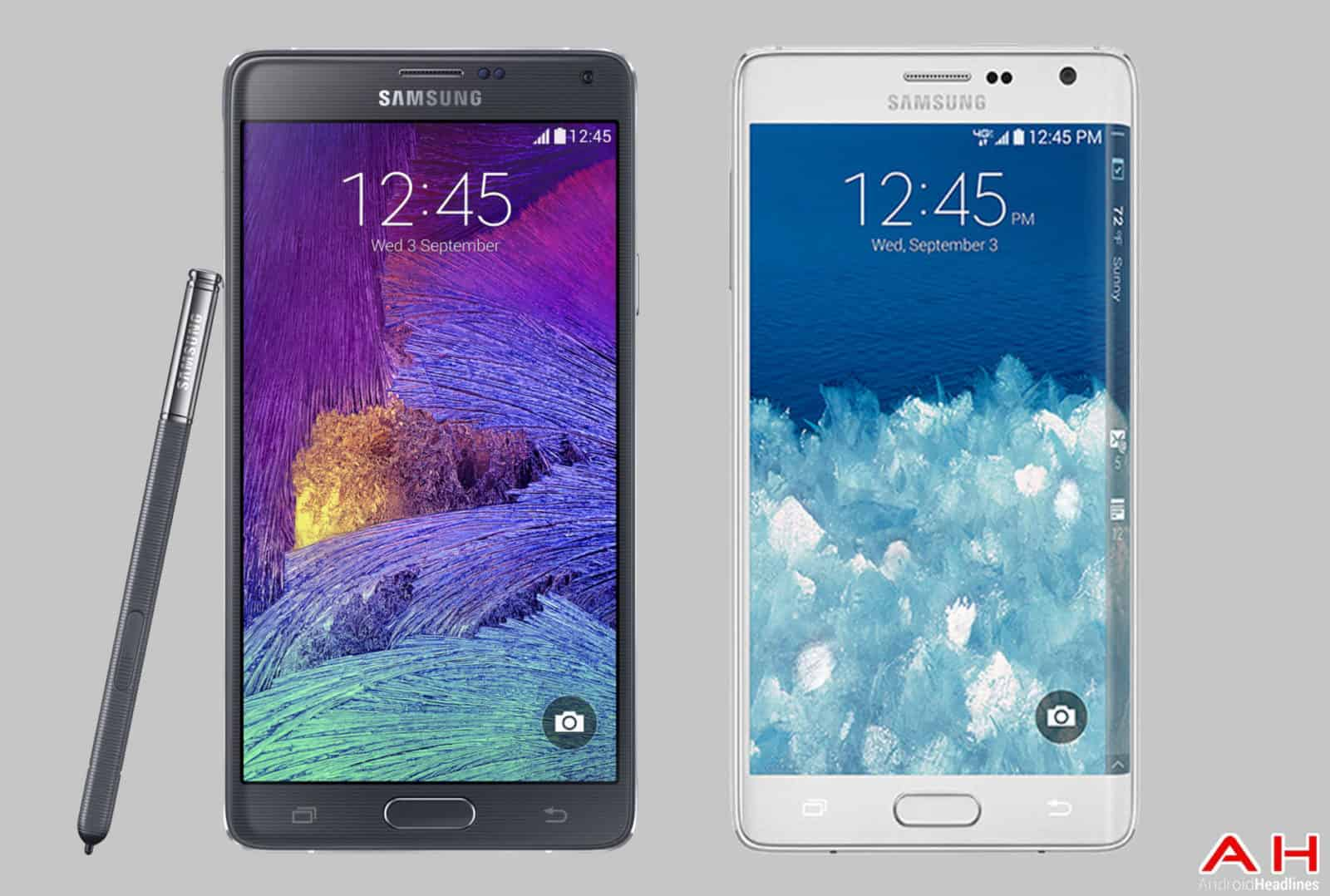 Samsung Galaxy Note 4 vs Samsung Note Edge cam 2AH