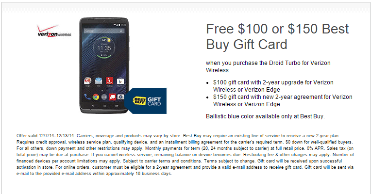 Best Buy DROID Turbo deal