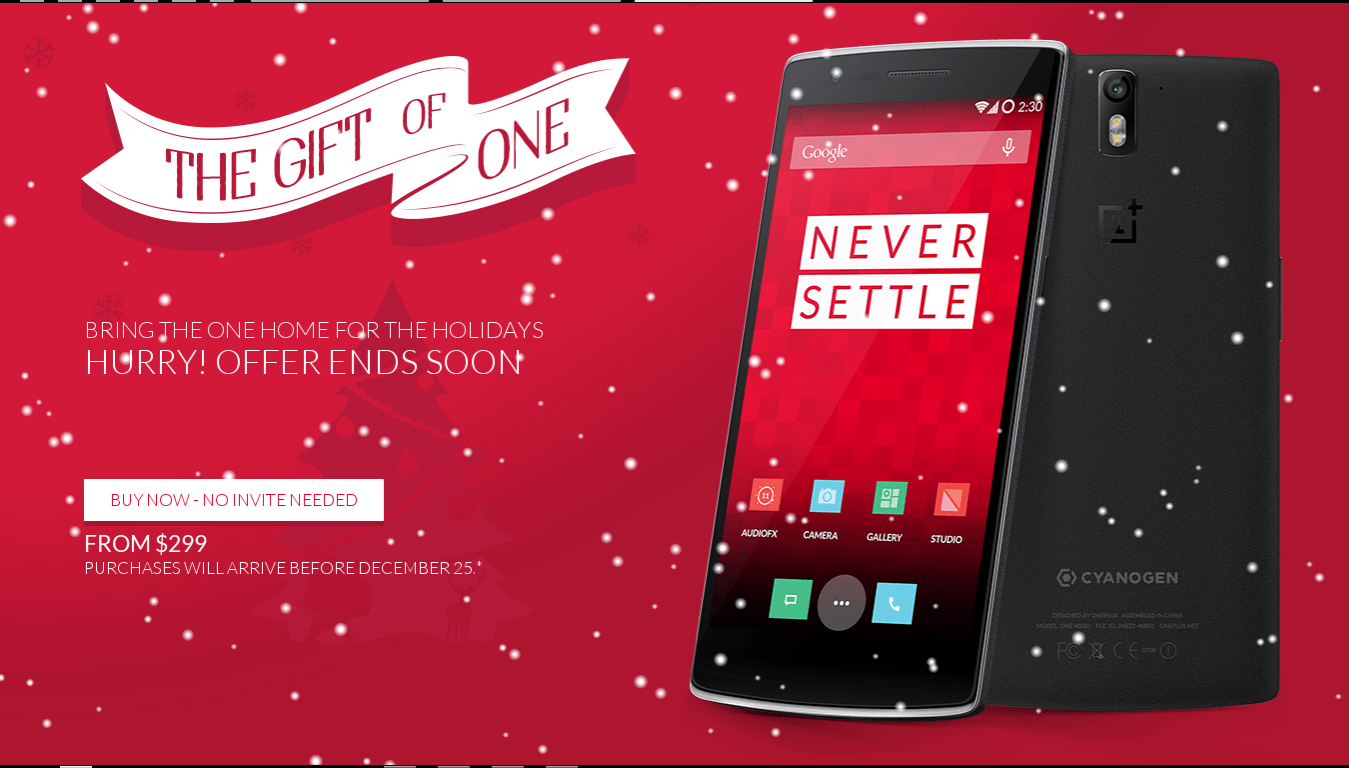 OnePlus One Christmas promotion