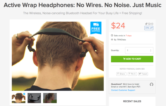 Active Wrap Headphones on Sale for just $24