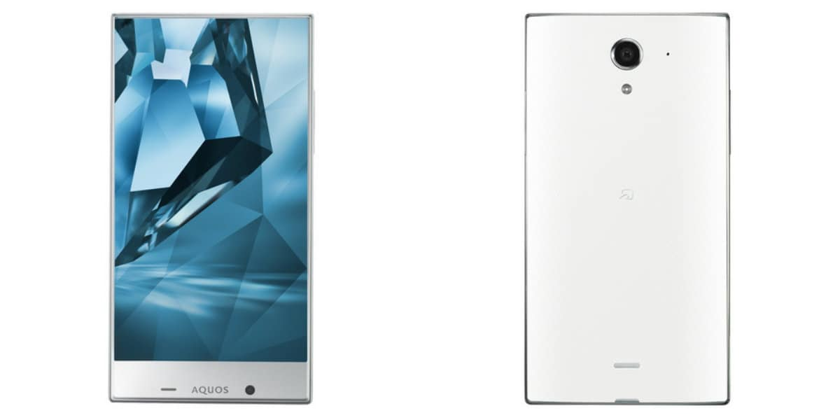 Sharp AQUOS Crystal X front and back