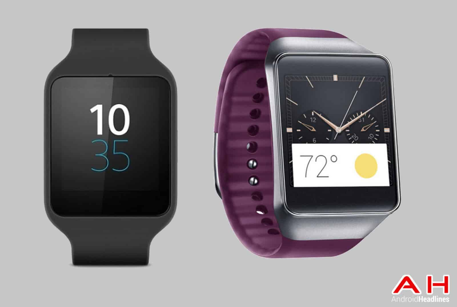 Sony SmartWatch 3 vs Gear Live cam AH