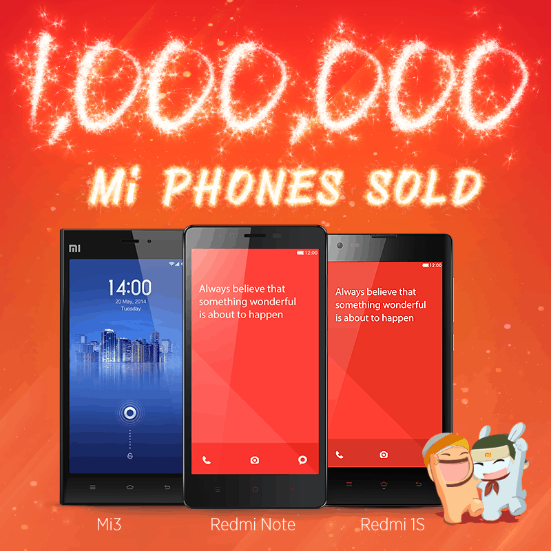 Xiaomi over 1 million smartphones india