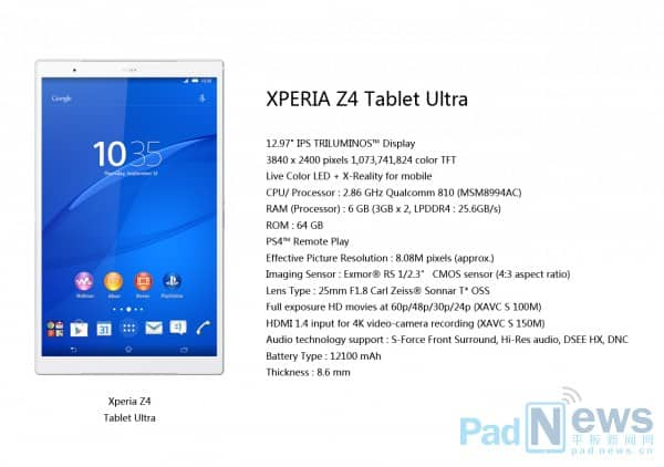 Xperia tablet ultra