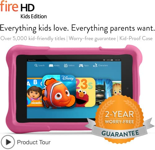 Deal: Amazon Kindle Fire Kids Edition 6 for $119, 7-inch for $159