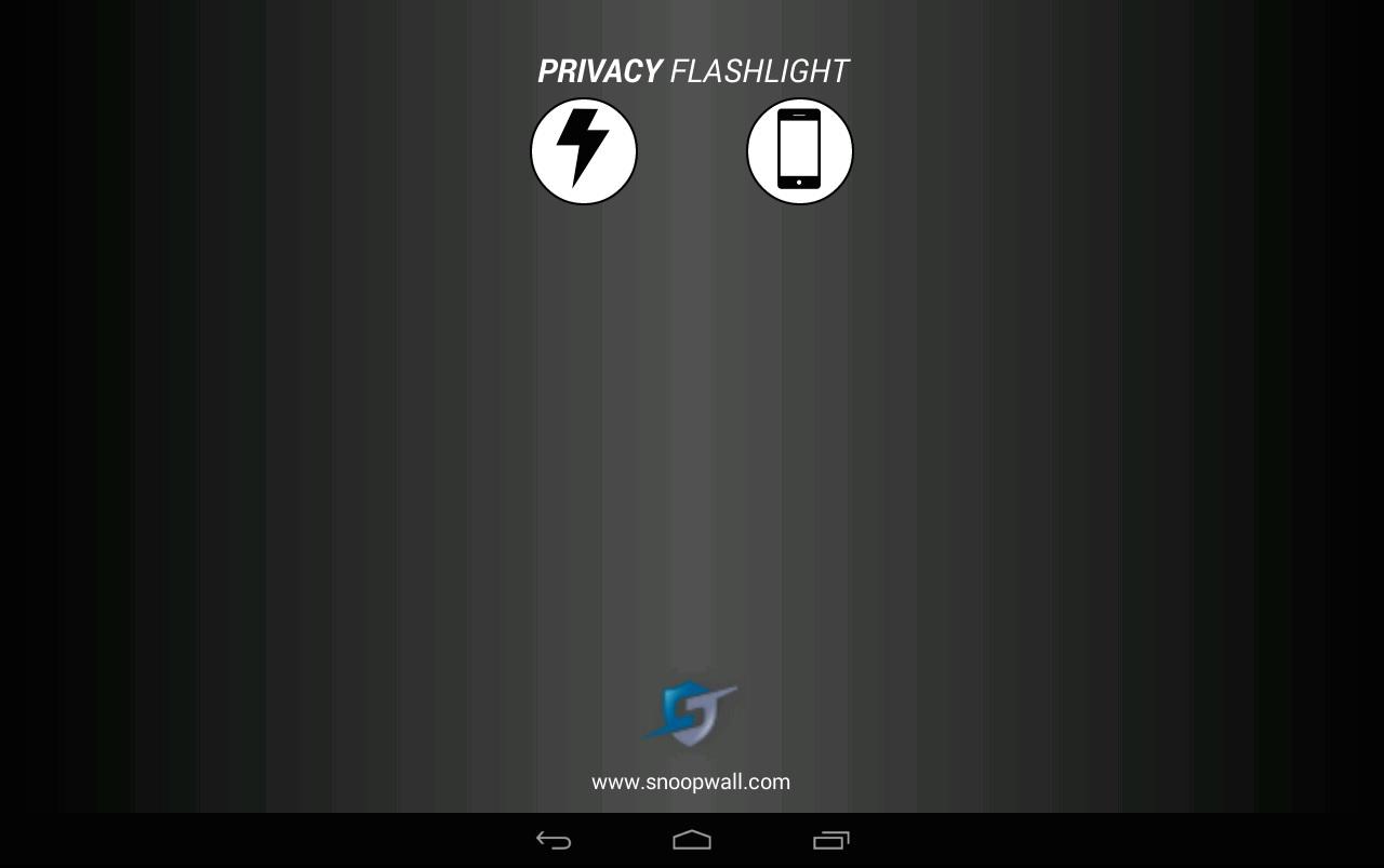 privacy flashlight
