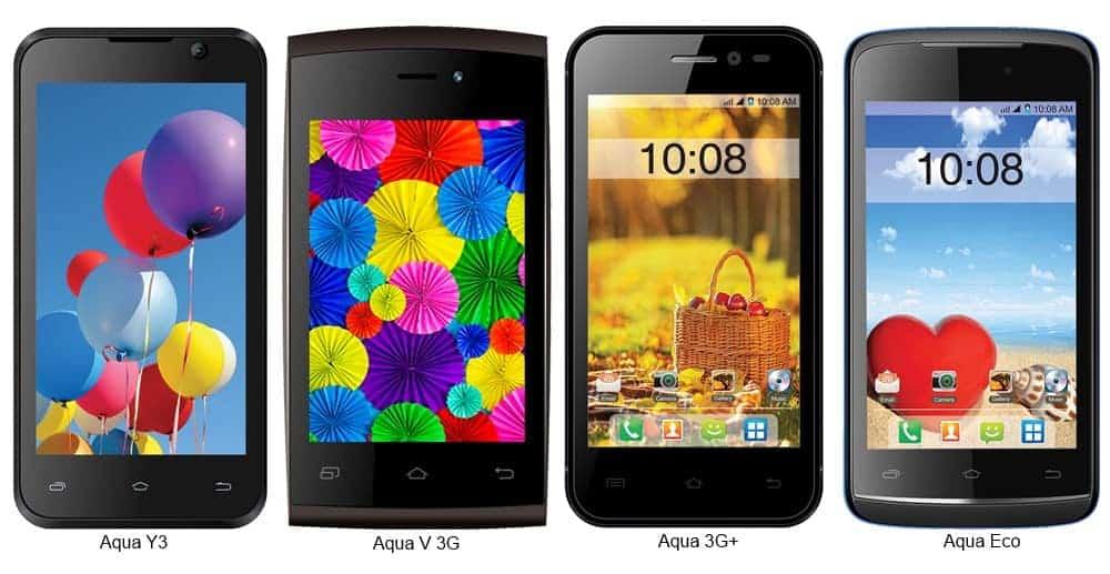 4 Intex Aqua handsets