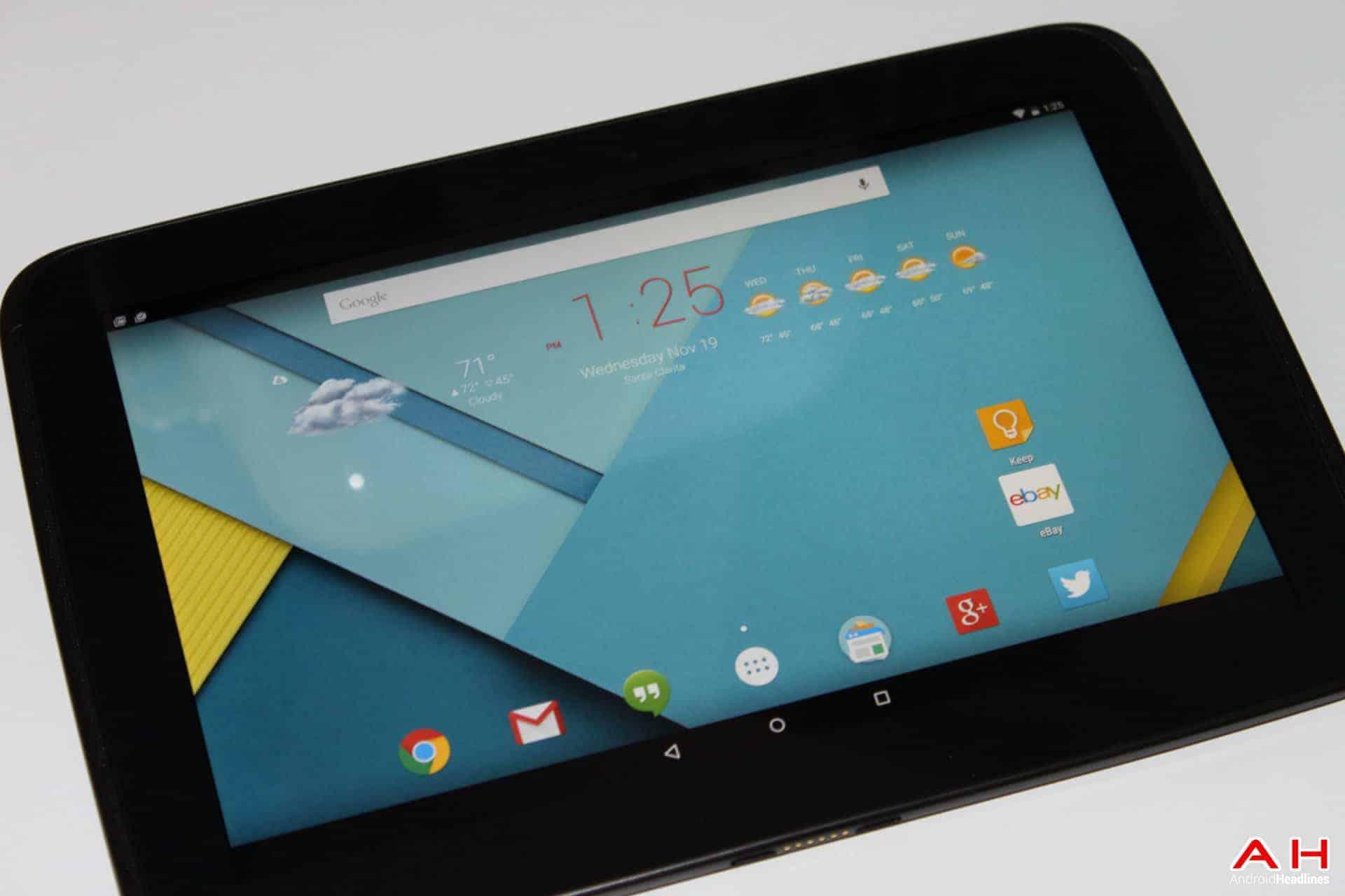 AH 3 Nexus 10 Lollipop android 5.0