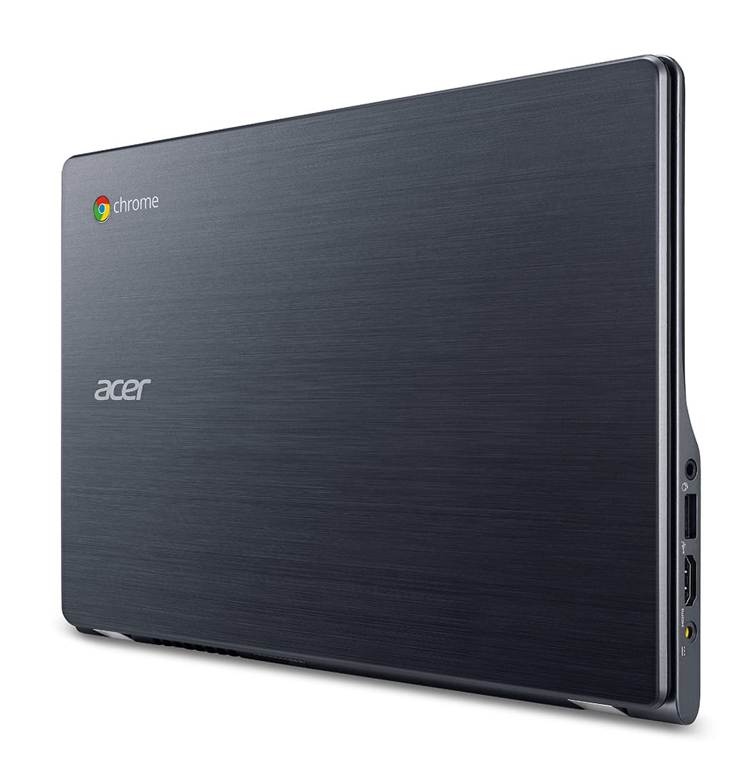 Acer C740 Chromebook closed upright left