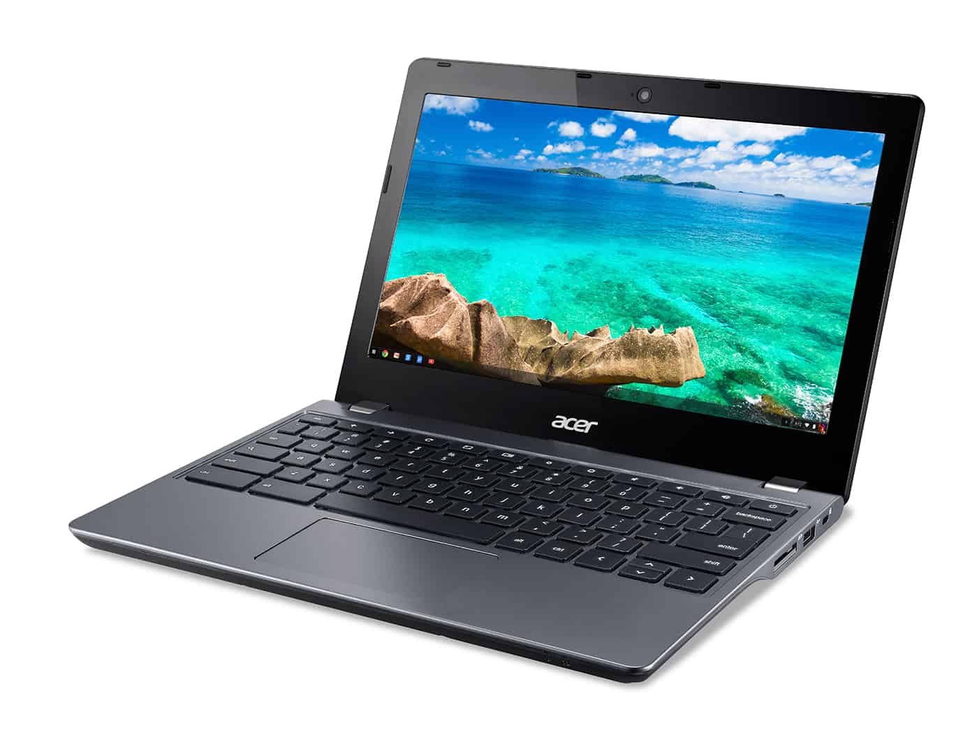 Acer C740 Chromebook left facing 2