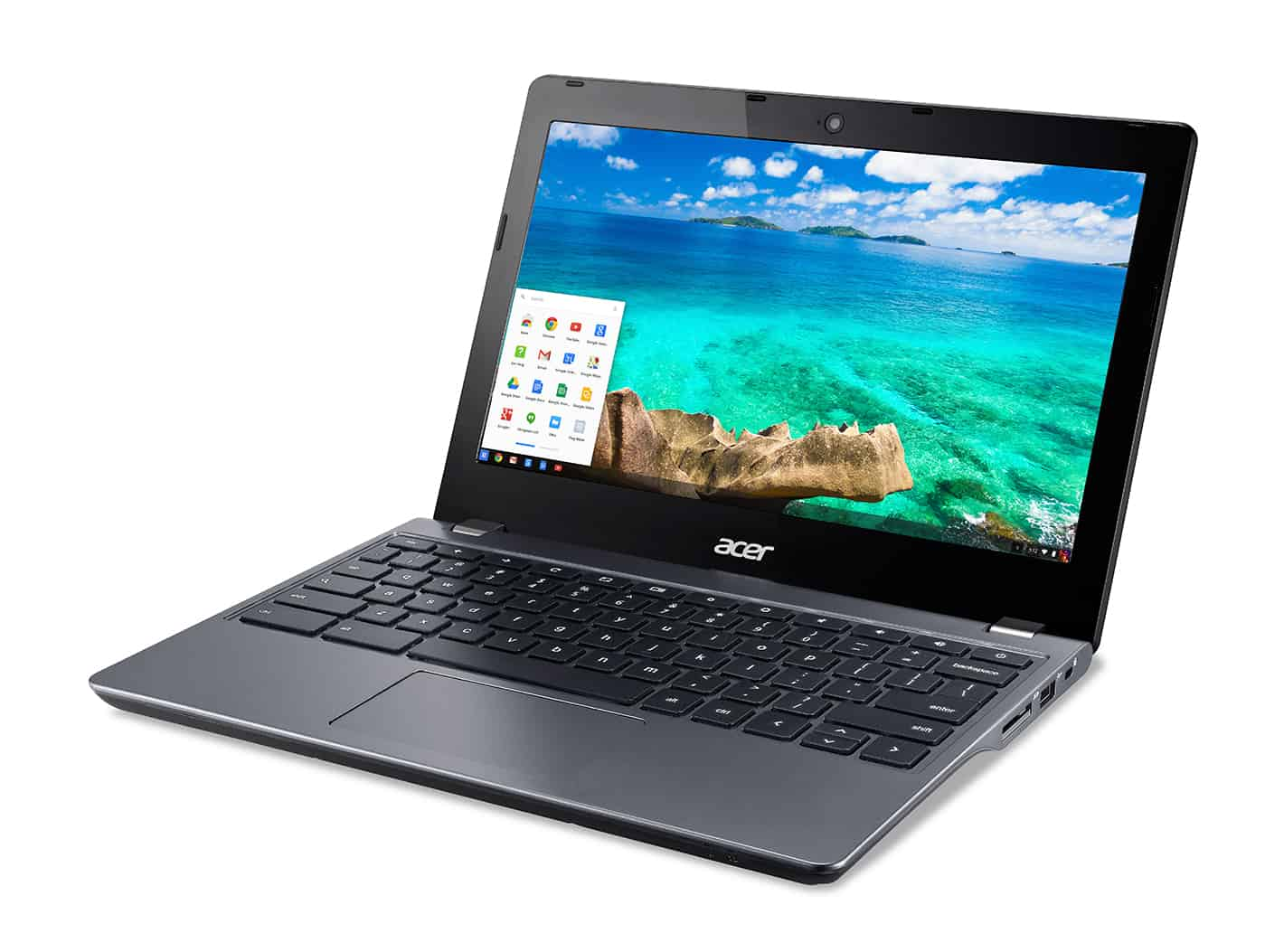 Acer C740 Chromebook left facing