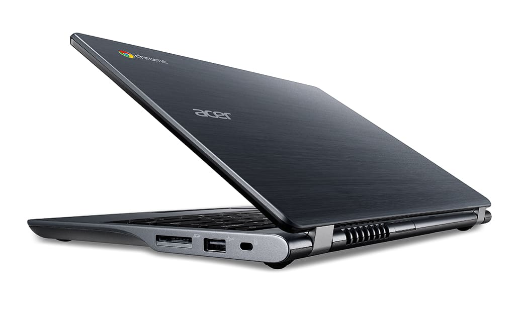 Acer C740 Chromebook rear left facing 2