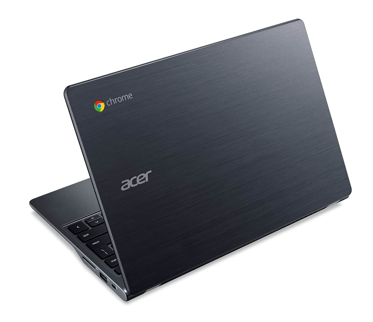 Acer C740 Chromebook rear left facing