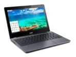 Acer C740 Chromebook right facing