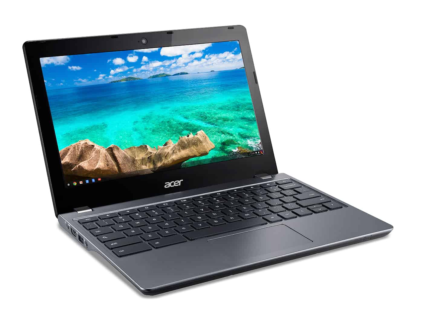 Acer C740 Chromebook right facing 2