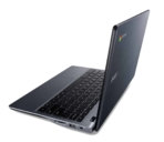 Acer C740 Chromebook side left facing