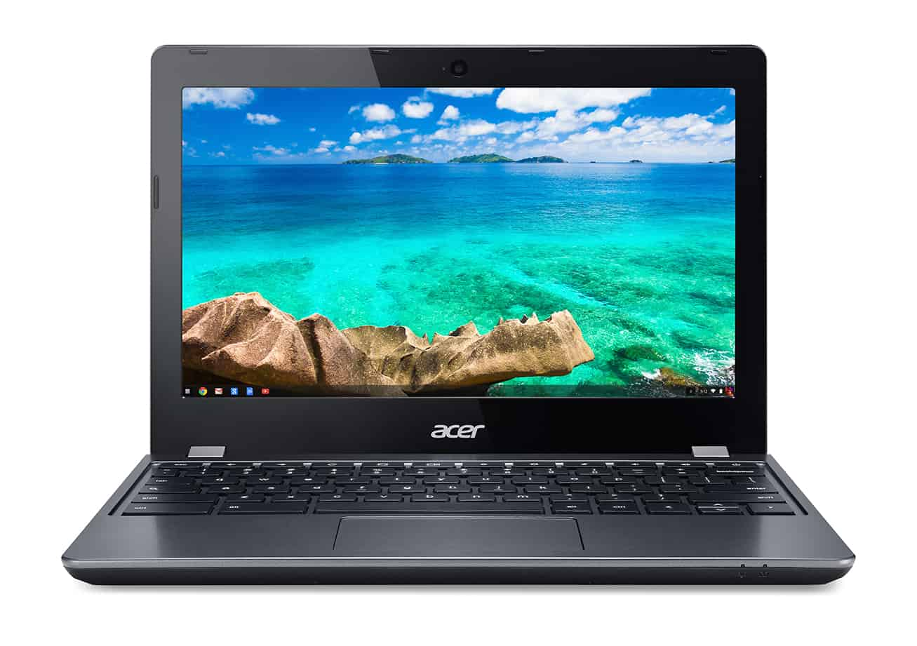 Acer C740 Chromebook straight on 2