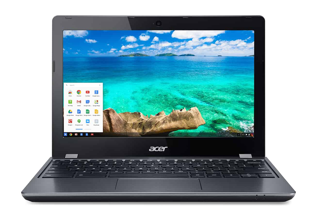 Acer C740 Chromebook straight on